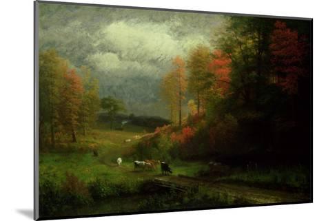 Rainy Day in Autumn, Massachusetts, 1857-Albert Bierstadt-Mounted Giclee Print