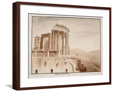 The Temple of the Tiburtine Sibyl, 1833-Agostino Tofanelli-Framed Art Print