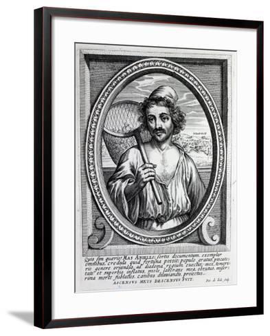 Masaniello, Engraved by Petrus De Iode-Dutch School-Framed Art Print