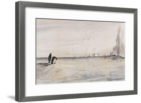The Emperor Penguin Rookery, Cape Crozier-Edward Adrian Wilson-Framed Art Print