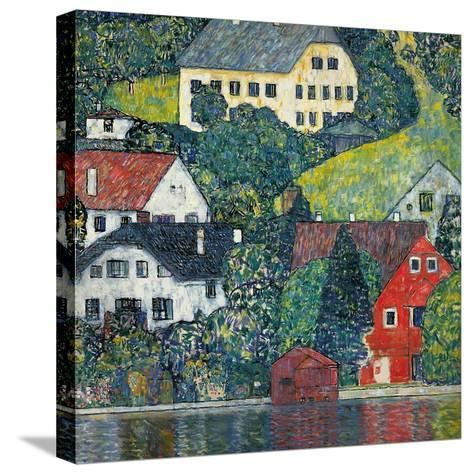 Houses at Unterach on the Attersee, C.1916-Gustav Klimt-Stretched Canvas Print