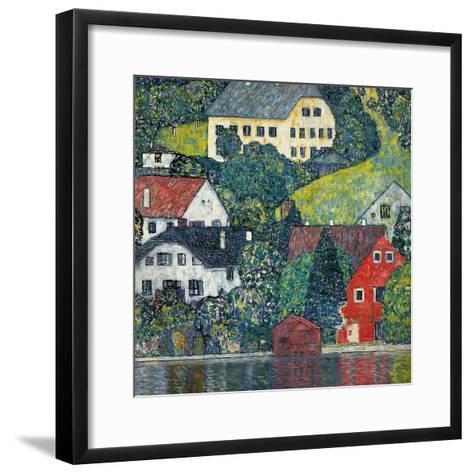 Houses at Unterach on the Attersee, C.1916-Gustav Klimt-Framed Art Print