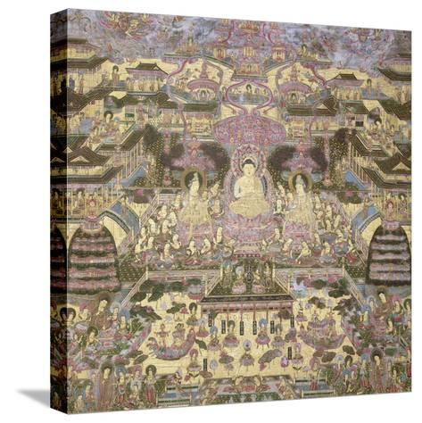 Depiction of Spiritual and Material Worlds-Japanese School-Stretched Canvas Print