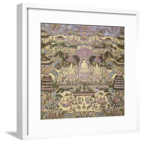 Depiction of Spiritual and Material Worlds-Japanese School-Framed Art Print