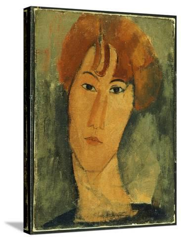 Young Woman with Red Hair Wearing a Collar-Amedeo Modigliani-Stretched Canvas Print