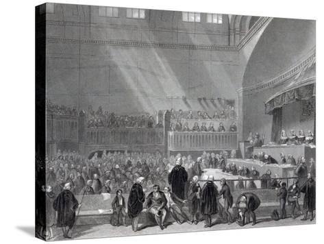 Daniel O'Connell Standing Trial in 1844-English School-Stretched Canvas Print