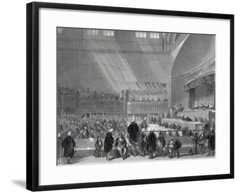 Daniel O'Connell Standing Trial in 1844-English School-Framed Art Print