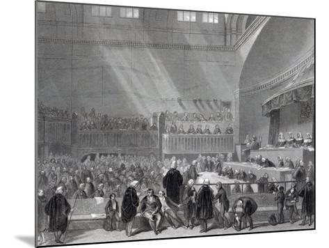 Daniel O'Connell Standing Trial in 1844-English School-Mounted Giclee Print