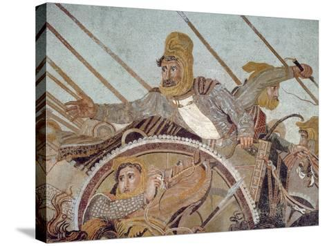 Darius Iii, from 'The Alexander Mosaic'-Roman-Stretched Canvas Print