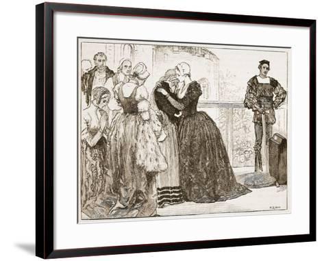 Anne Boleyn's Last Farewell to Her Ladies-Mary Gow-Framed Art Print