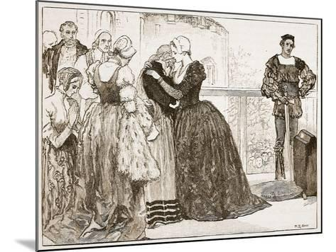 Anne Boleyn's Last Farewell to Her Ladies-Mary Gow-Mounted Giclee Print