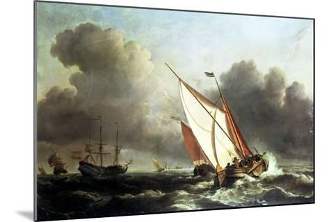 Dutch Shipping Offshore in a Rising Gale-Willem Van De, The Younger Velde-Mounted Giclee Print