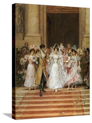The Wedding, Church of St. Roch, Paris-Frederik Hendrik Kaemmerer-Stretched Canvas Print