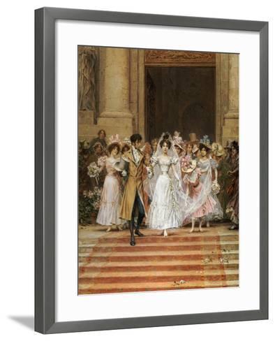 The Wedding, Church of St. Roch, Paris-Frederik Hendrik Kaemmerer-Framed Art Print