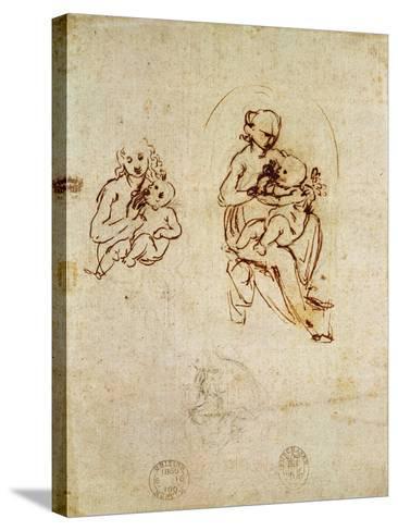 Study for the Virgin and Child, C.1478-1480-Leonardo da Vinci-Stretched Canvas Print