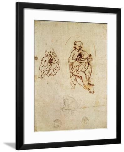 Study for the Virgin and Child, C.1478-1480-Leonardo da Vinci-Framed Art Print