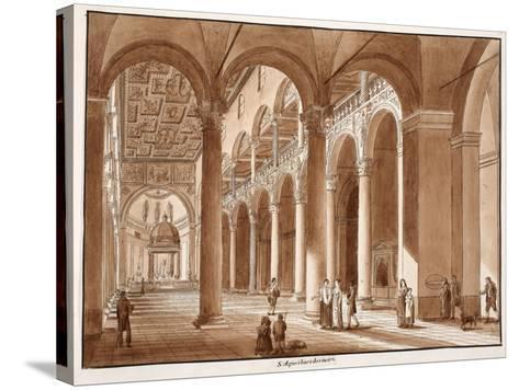 Basilica of Sant'Agnese Fuori Le Mura, 1833-Agostino Tofanelli-Stretched Canvas Print