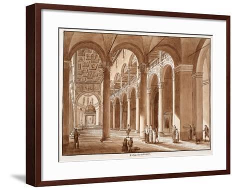 Basilica of Sant'Agnese Fuori Le Mura, 1833-Agostino Tofanelli-Framed Art Print