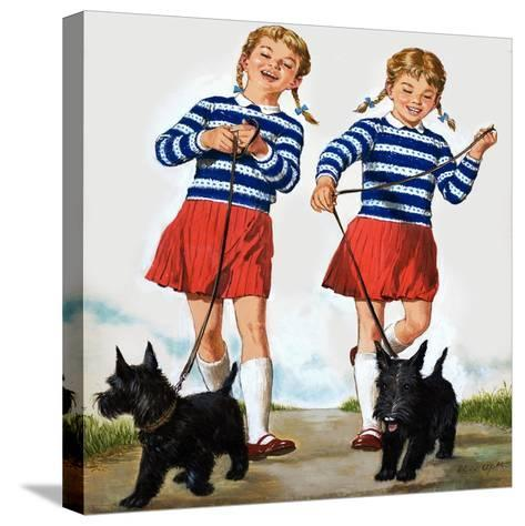 T Is for Twin, Illustration from 'Treasure'-Clive Uptton-Stretched Canvas Print