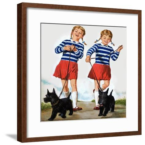 T Is for Twin, Illustration from 'Treasure'-Clive Uptton-Framed Art Print