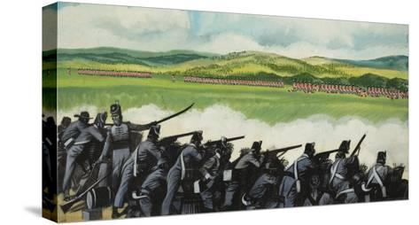 Battle of New Orleans on 8th January 1815-Ron Embleton-Stretched Canvas Print
