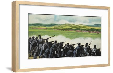 Battle of New Orleans on 8th January 1815-Ron Embleton-Framed Art Print
