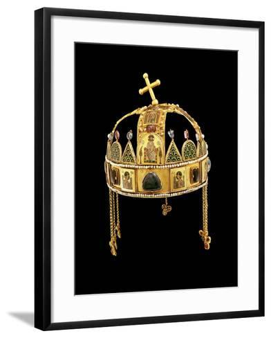 The Holy Crown of Hungary, 11th-12th Century-Byzantine-Framed Art Print