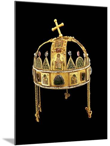 The Holy Crown of Hungary, 11th-12th Century-Byzantine-Mounted Giclee Print