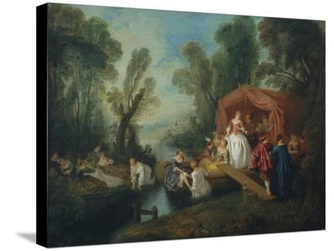 Departure for the Island of Cythera-Jean-Baptiste Pater-Stretched Canvas Print