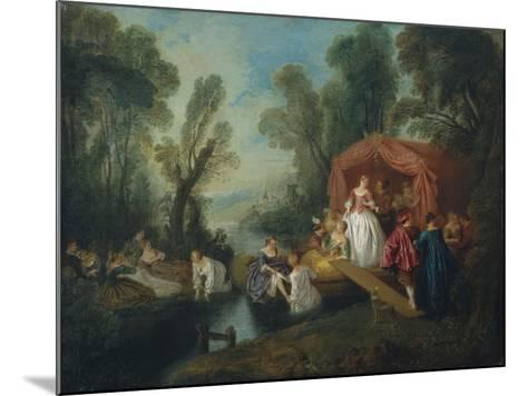 Departure for the Island of Cythera-Jean-Baptiste Pater-Mounted Giclee Print