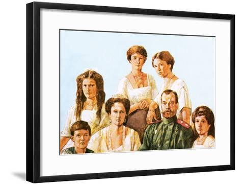 Tsar Nicholas Ii with This Family-Richard Hook-Framed Art Print