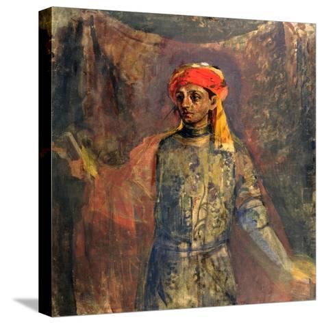 Portrait of Mikhail Kuzmin, 1911-12-Nikolai Sapunov-Stretched Canvas Print