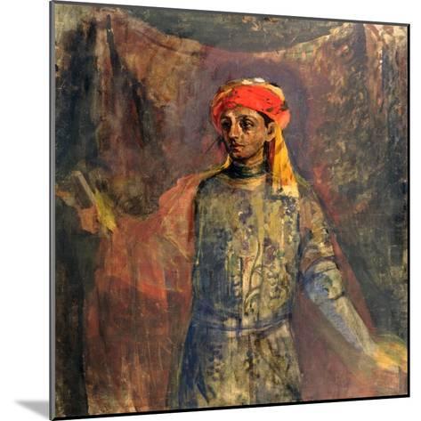 Portrait of Mikhail Kuzmin, 1911-12-Nikolai Sapunov-Mounted Giclee Print
