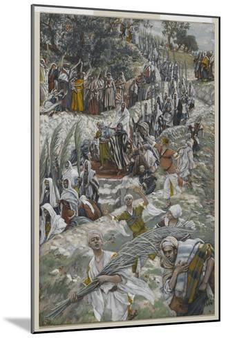 The Procession on the Mount of Olives-James Tissot-Mounted Giclee Print