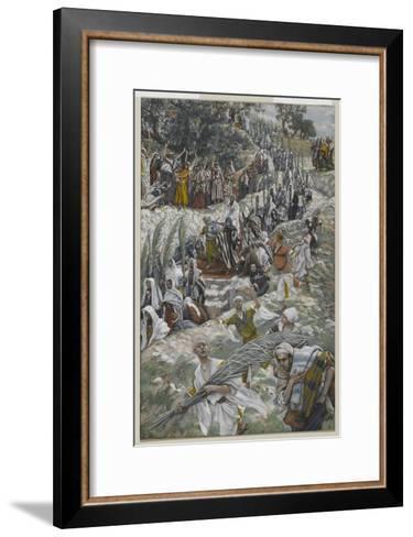 The Procession on the Mount of Olives-James Tissot-Framed Art Print