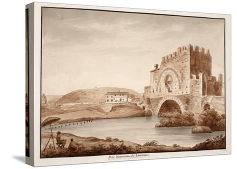 Ponte Nomentano, or Lamentano, 1833-Agostino Tofanelli-Stretched Canvas Print