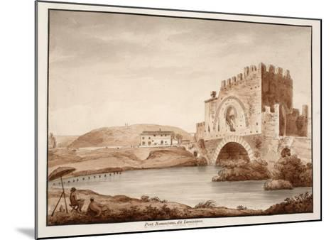 Ponte Nomentano, or Lamentano, 1833-Agostino Tofanelli-Mounted Giclee Print