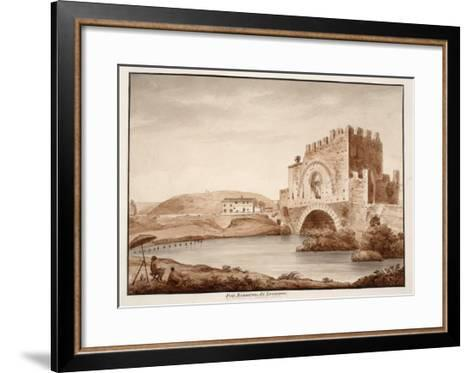 Ponte Nomentano, or Lamentano, 1833-Agostino Tofanelli-Framed Art Print