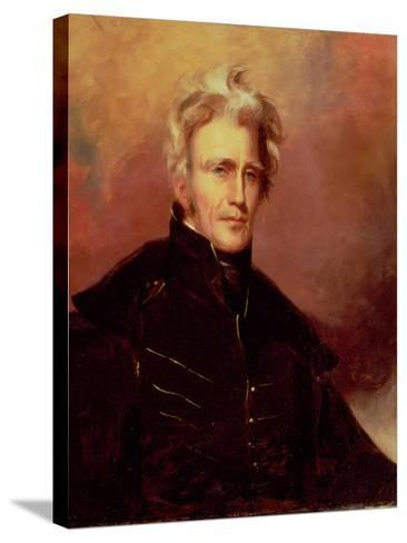 Portrait of Andrew Jackson, 1858-Thomas Sully-Stretched Canvas Print