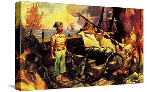 The Boy Who Stood on the Burning Deck-McConnell-Stretched Canvas Print