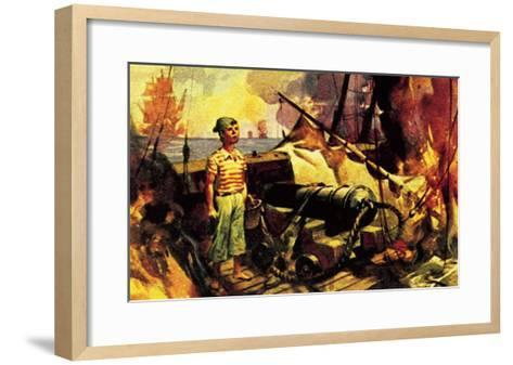 The Boy Who Stood on the Burning Deck-McConnell-Framed Art Print