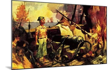 The Boy Who Stood on the Burning Deck-McConnell-Mounted Giclee Print