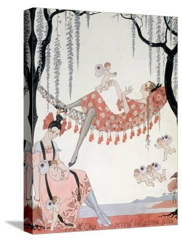 What Do Young Women Dream Of? 1918-Georges Barbier-Stretched Canvas Print