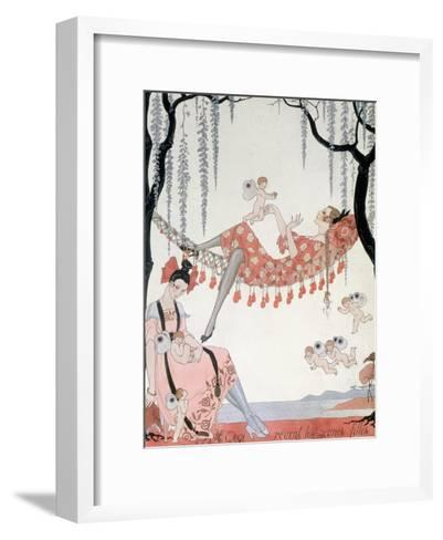 What Do Young Women Dream Of? 1918-Georges Barbier-Framed Art Print