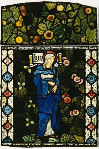 The Blessed Virgin Mary, Morris and Co.-Edward Burne-Jones-Stretched Canvas Print