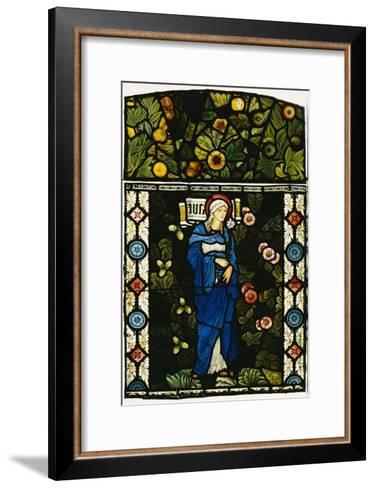 The Blessed Virgin Mary, Morris and Co.-Edward Burne-Jones-Framed Art Print