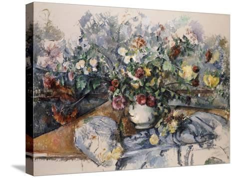 A Large Bouquet of Flowers, C.1892-95-Paul C?zanne-Stretched Canvas Print