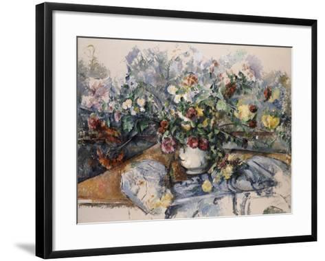 A Large Bouquet of Flowers, C.1892-95-Paul C?zanne-Framed Art Print