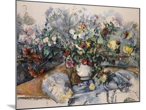 A Large Bouquet of Flowers, C.1892-95-Paul C?zanne-Mounted Giclee Print