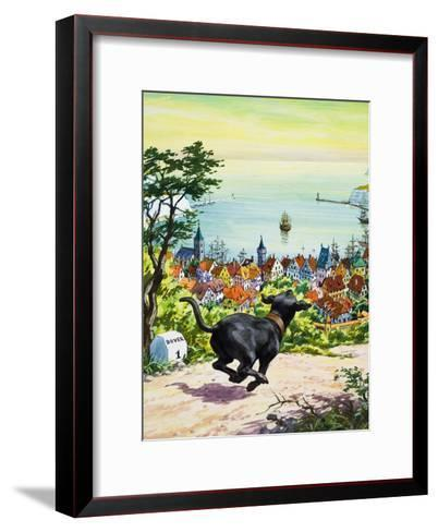 Dog Running to Find His Master, 1969-English School-Framed Art Print